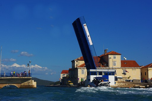 Boot, Bridge, Transit, Port, Croatia, Shipping Lane