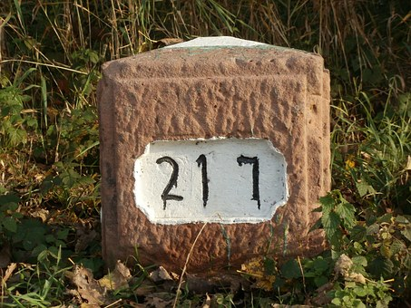 Kilometer, Stone, Distance, Mark, Sign, Symbol