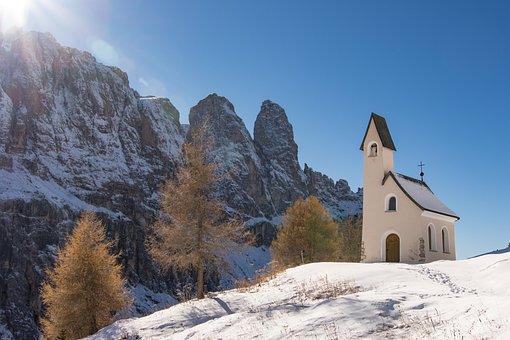 South Tyrol, Dolomites, Val Gardena Yoke, Sella Group