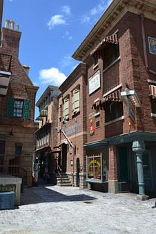 House, Film Set, Stone Built House, Shopping Street