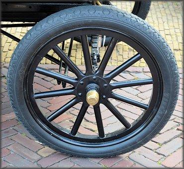 Car, T-ford, Old Car, Wheel, Headlight, Antique