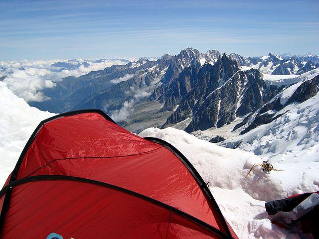Dome Du Gouter, Mont Blanc, Alps, France, High, Blue