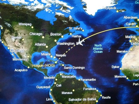 Flight Route, Ad, Aircraft, Instruments, Tv, Display