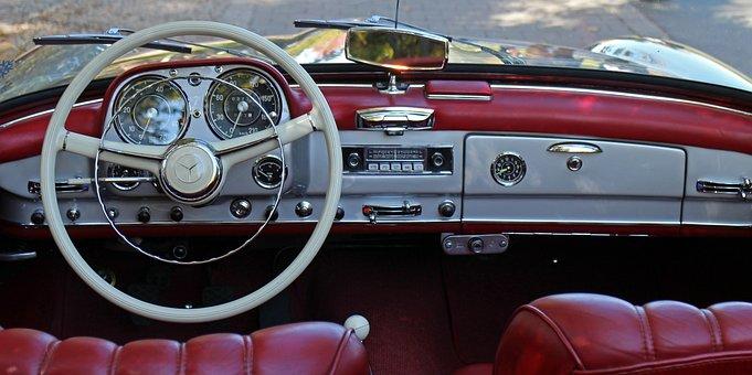 Auto, Steering Wheel, Interior, Leather