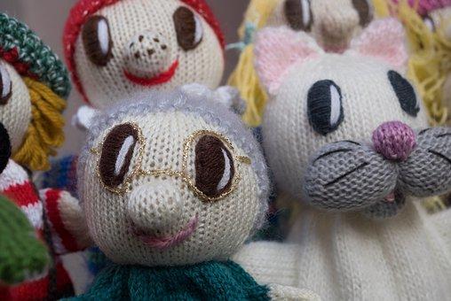 Dolls, Grandma, Grandmother, Cat, Knit, Craft