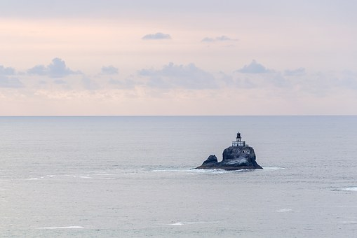 Lighthouse, Lonely, Alone, Island, Isolation, Rock