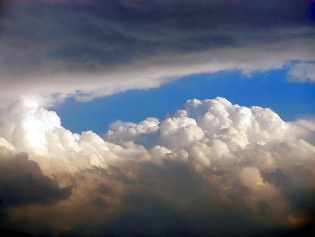 Sky, Clouds, Nature, Light, Grey, Chiaroscuro