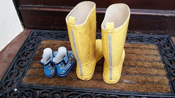Rubber Boots, Children, Child, North Sea Coast