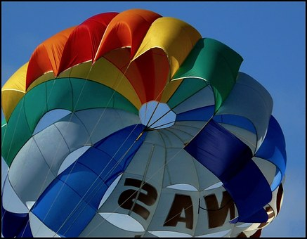 Parachute, Sky, Water Sports, Parasailing, Screen, Fly