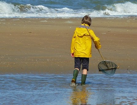 Human, Child, Boy, Children, Sea, Sand Beach, Beach