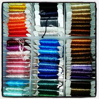Embroidery Thread, Side, Embroider, Crafts, Box