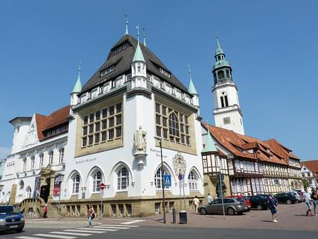 Celle, Lower Saxony, Historic Center, Space, Church