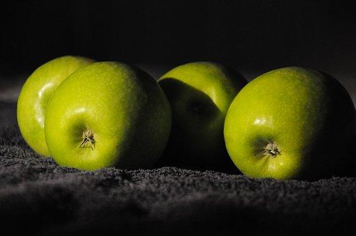 Green Apples, Chiaroscuro, Still Life