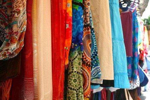 Street Vendor, Fabric, Vendor, Colorful, Street, Cloth