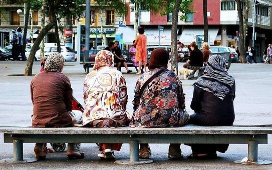 Barcelona, Religion, The Head Scarf, Muslim, Colorful
