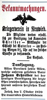 Newspaper Ads, Off, The, Rheinland, To, 1870