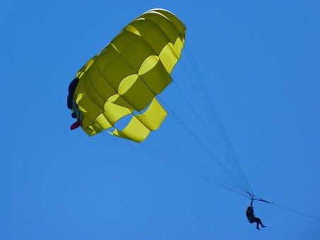 Parasailing, Controllable Parachuting, Top, Parachute