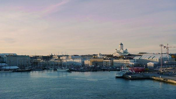 Helsinki, Harbor, Cityscape, Ship, City, Europe, Water