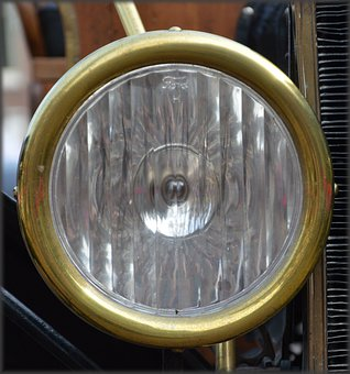 Car, T-ford, Old Car, Wheel, Headlight, Antique
