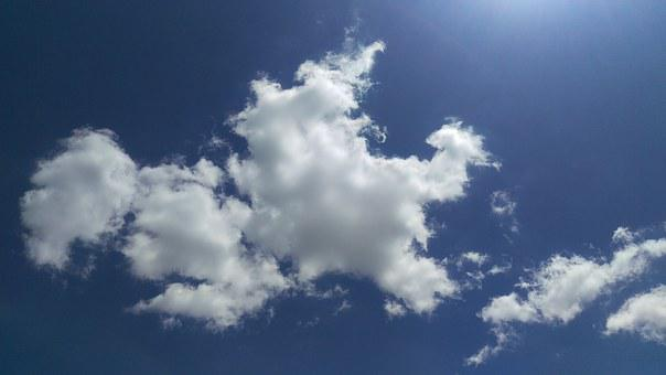 Clouds, Blue, Sky, The Sun, White, Ad Space, Sunny
