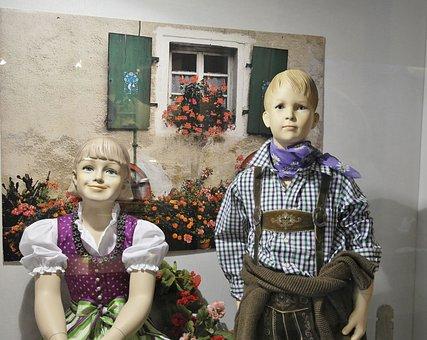 Decoration, Window, Children, Clothing, Boy, Girl