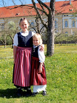 Bavarian, Kids, Girls, Youngster, Youth, Dirndl