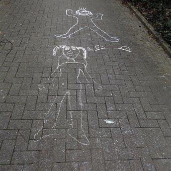 Painting, Sidewalk, Chalk, Children, Street Chalk, Art