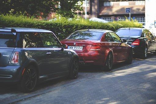 Cars, Parking, Parked, Car, Auto, Bmw, Mini Cooper, M3