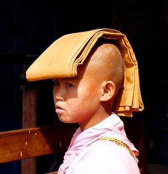 Portrait, Buddhist Novice, Love, Charity, Fraternity