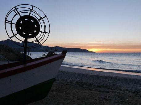 Patera, Fishing, Beach, Sea, Water, Nature, Waves