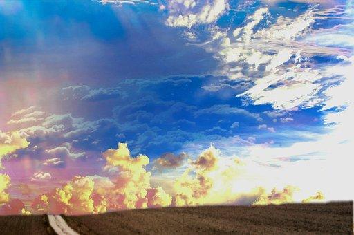 Landscape, Horizon, Clouds, Sky, Wide, Romantic