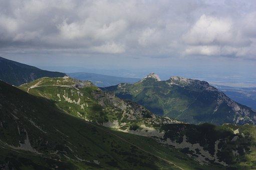 Polish Tatras, Panorama, Kasprowy Wierch, Giewont