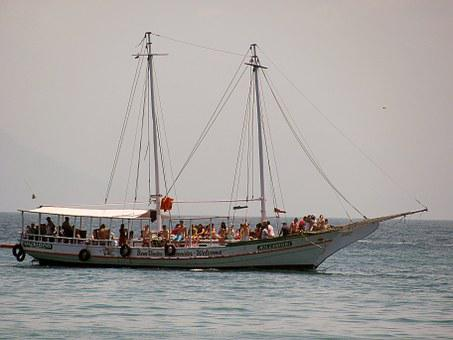 Schooner, Boat, Ride, Holidays, Mar, Tourists, Sloop