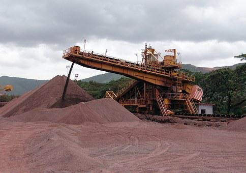 Mining, Iron Ore, Mine, Transport, Conveyor, Iron