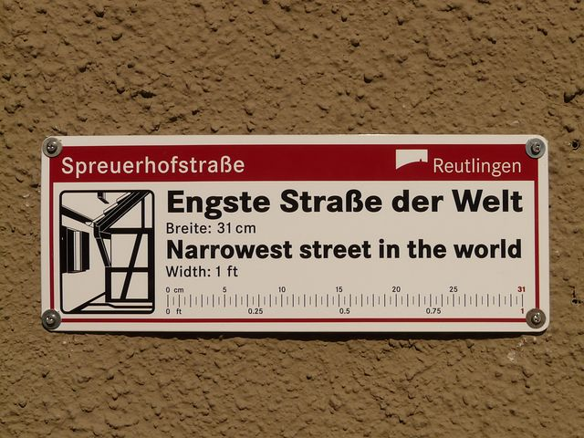 Spreuerhofstraße, Narrowest Street In The World, Record