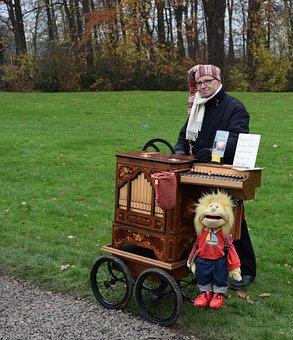 Street Organ, Music, Organ Grinder, Street Musician
