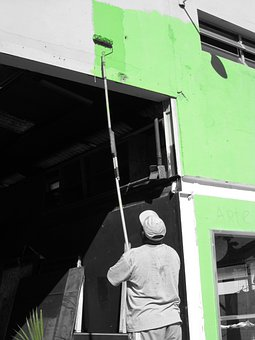 Paint, Painter, Painting, Green, Tint, Greyscale, Color