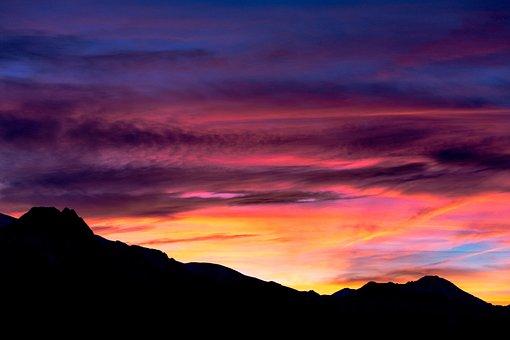 Tatry, Poland, Sunset, Giewont, Mountains, Landscape