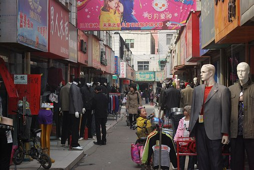 Stores, China, Clothing, Shops, Shopping, Shoppers