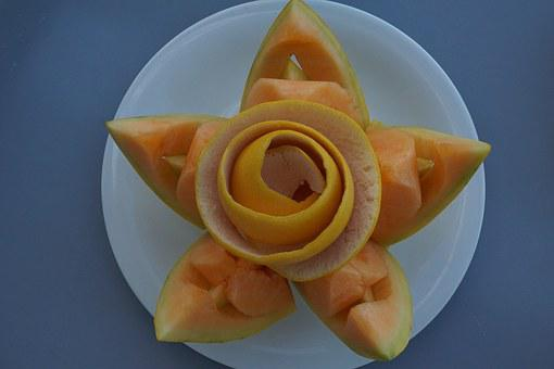 Flower, Carve, Melon, Star, Rose, Plate, Tinker, Knife