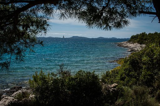 Sea, Coast, Water, Blue, Nature, Croatia, Murter