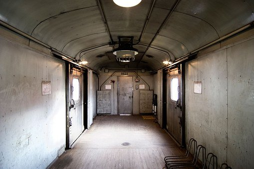 Train, Room, Space, Empty, Dirty, Weathered, Grunge