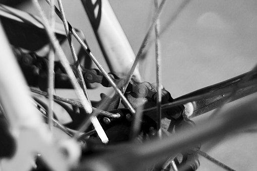 Bike, Black And White, Bicycle, Chain, Bicycling