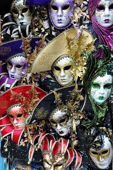 Masks, Venetian Masks, Disguise, Carnival, Masquerade