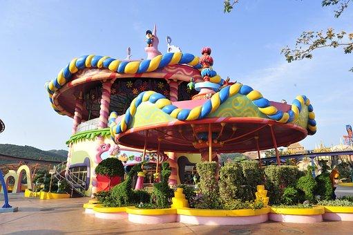 Changzhou Play Valley, Fantasy World, Carousel