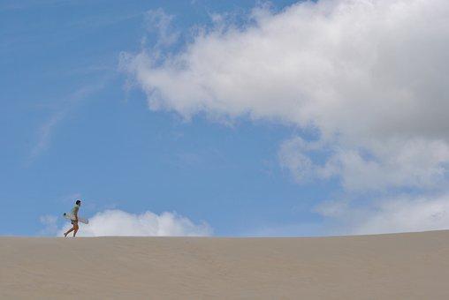 Sandboard, Sand, Dunes, Florianopolis, Santa Catarina