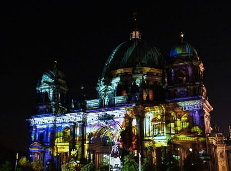 Festival Of Lights, Berlin Cathedral, Berlin, Capital