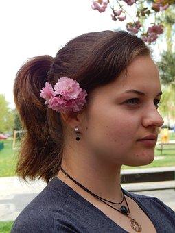 Girl, Tereza, Profi, Spring, Flower