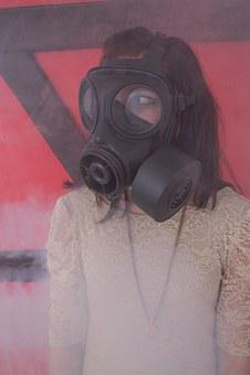 Gas Mask, Girl, Dress, Smoke, Woman, Fog, Abc-attack