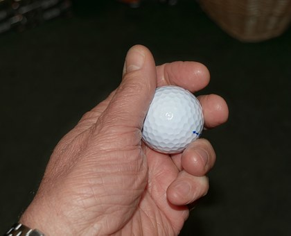 Golf, Golf Ball, Ball, Hand, Holding, Sport, Game
